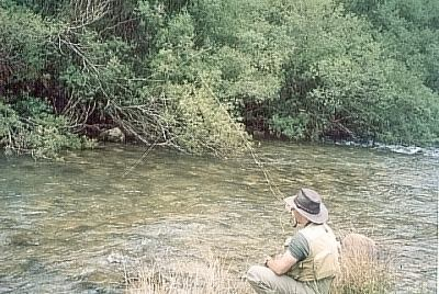 Thony Pesek on Upper Veral river